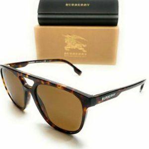 Burberry Men's Dark Havana Brown Sunglasses!